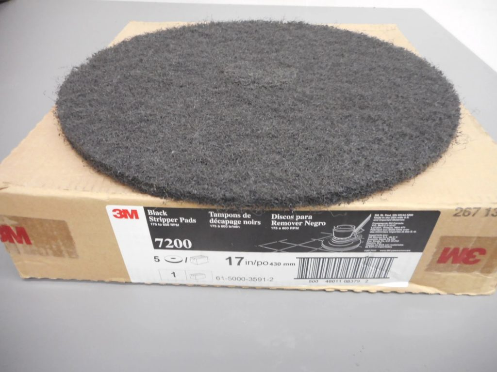 This image has an empty alt attribute; its file name is 17-inch-black-stripping-pads-1024x768.jpg